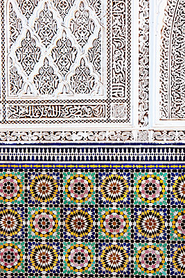 Patterns at the Ben Youssef Madrasa - p637m937837 by Florian Stern