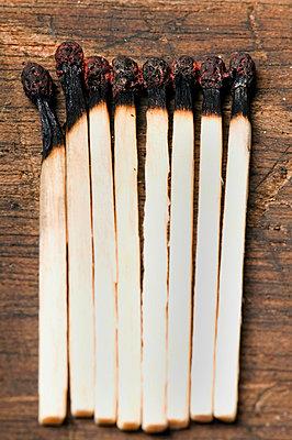 Burnt matches - p4510876 by Anja Weber-Decker