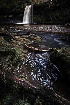 Sgwd Gwladus waterfall, Pontneddfechan, Brecon Beacons, Powys, Wales, United Kingdom - p871m2113650 by Bill Ward