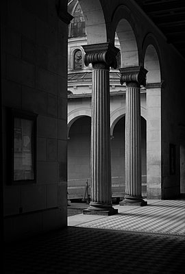 Ionic columns, Sanssouci Palace - p1578m2159161 by Marcus Hammerschmitt