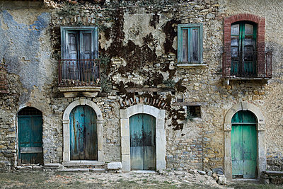 Old stone facade - p8770081 by Julia Wagner