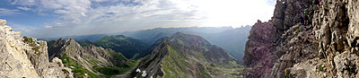 Bergpanorama, Kleinwalsertal - p427m916109 von R. Mohr