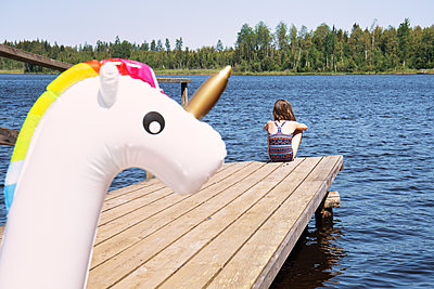 With the unicorn by the lake - p294m2132908 by Paolo