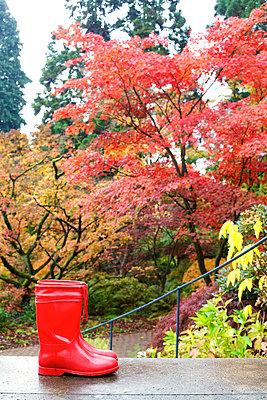 Rote Gummistiefel - p606m741168 von Iris Friedrich