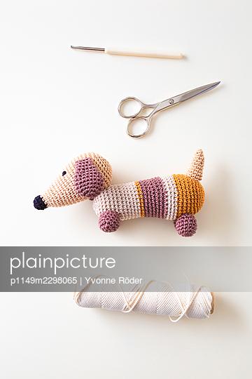 Crochet Dachshund - p1149m2298065 by Yvonne Röder