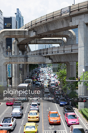 Bangkok Skytrain - p842m1030599 by Renée Del Missier