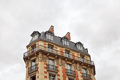 Old building in Paris - p1090m2143029 by Gavin Withey