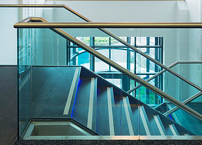 Modern Office Staircase - p1100m2090766 by Mint Images