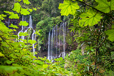 Reunion island (French overseas department), Parc National de La Reunion (Reunion National Park) Waterfall - p651m2032719 by Michele Falzone