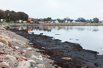 Harbor, buildings on background - p312m1532857 by Christina Strehlow