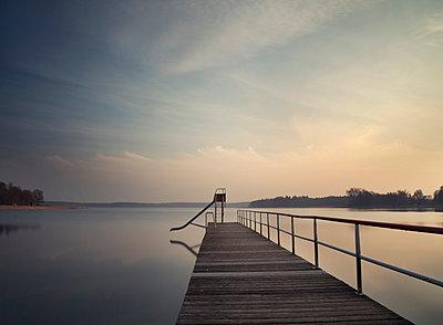 Pier, Baltic Sea - p992m1016125 by Carmen Spitznagel