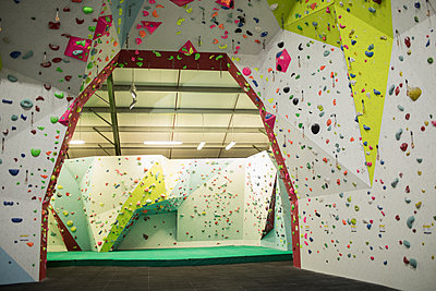 Artificial climbing wall for practice - p1315m1421734 by Wavebreak