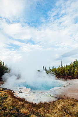 Scenic view of hot spring - p1166m1543381 by Cavan Social