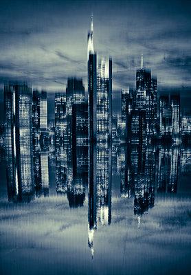 Skyline of Frankfurt - p1684m2291993 by Klaus Ohlenschlaeger