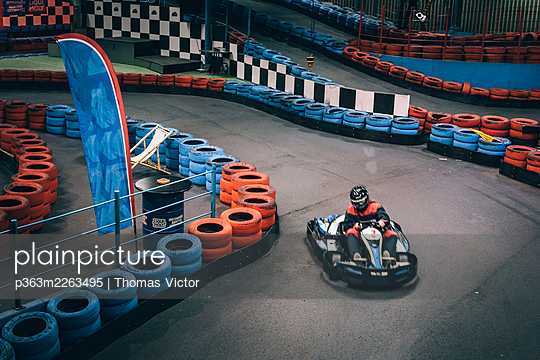 Indoor go-kart track - p363m2263495 by Thomas Victor