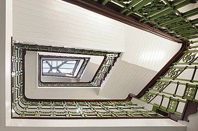 Original staircase within 61 Oxford Street, Manchester, Greater Manchester. - p855m713241 by Daniel Hopkinson