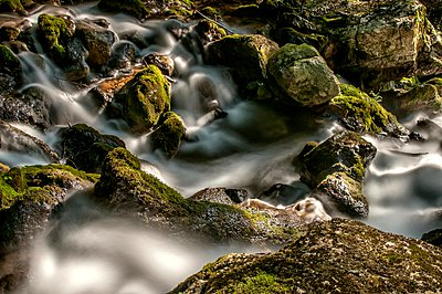 Water among the stones - p1072m954909f by Grigore Roibu