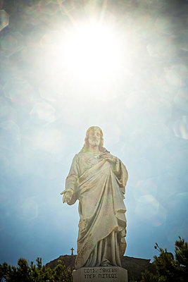 Statue of Christ  - p445m1159671 by Marie Docher