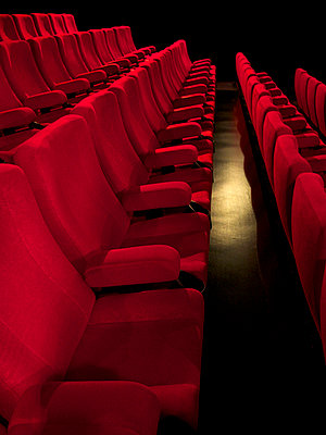 Row of seats of cinema - p813m916239 by B.Jaubert