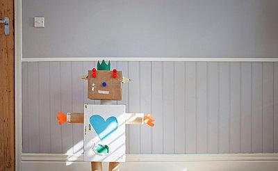 Homemade toy robot - p429m803091f by Ian Nolan