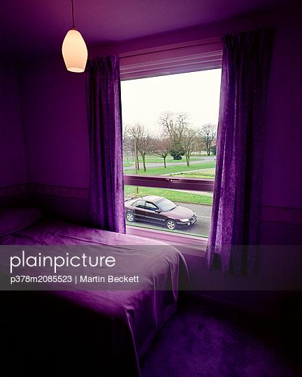Purple bedroom - p378m2085523 by Martin Beckett