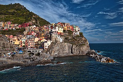 Beautiful Manarola - p1399m1442175 by Daniel Hischer