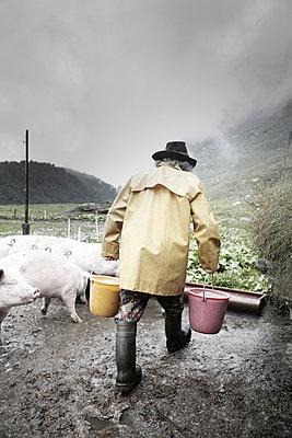 Mountain farmer - p1134m949194 by Pia Grimbühler