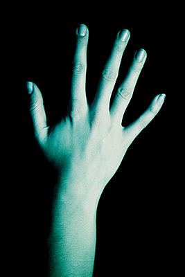 Blue cold hand - p3750648 by whatapicture