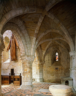Brinkburn Priory. View of chapel in north transept.. - p8551706 by Keith Buck
