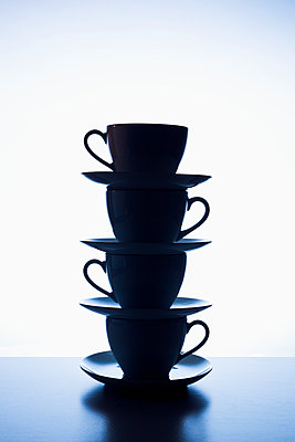 Stacked cups - p1149m2125274 by Yvonne Röder