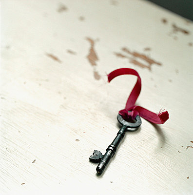 Vintage style house key - p349m695141 by Emma Lee