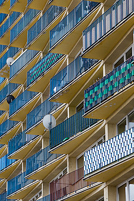 Apartment Facade, Wroclaw - p1256m2098936 by Sandra Jordan