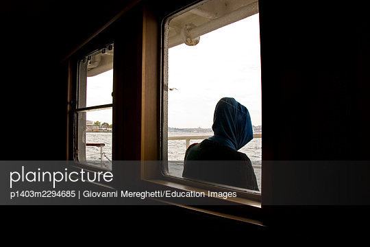 View from the window. Istanbul. Turkey - p1403m2294685 by Giovanni Mereghetti/Education Images