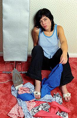 Bügelwäsche - p1650196 von Andrea Schoenrock