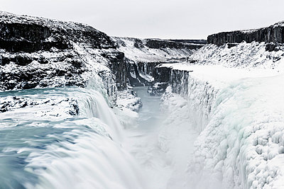 A waterfall, Gullfoss, Iceland. - p31224679f by Roine Magnusson
