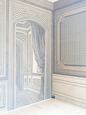 Art nouveau, panelled door and wall - p1085m2203562 by David Carreno Hansen