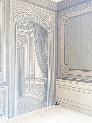 Jugendstil, Vertäfelung von Tür und Wand - p1085m2203562 von David Carreno Hansen