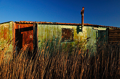 Old rusty fisherman hut in the swamp - p8290155 by Régis Domergue