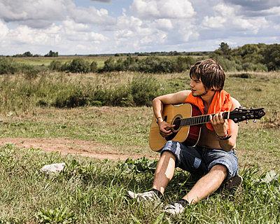 Russischer Sänger - p1085m880913 von David Carreno Hansen