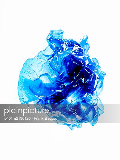 Blue plastic foil - p401m2196120 by Frank Baquet