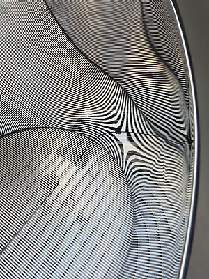 Zebra-effect air vent reflection - p1048m2016463 by Mark Wagner
