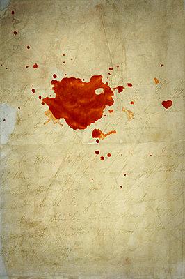 Blood on paper - p4700132 by Ingrid Michel