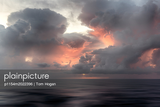 Storm on the Pacific - p1154m2022396 by Tom Hogan