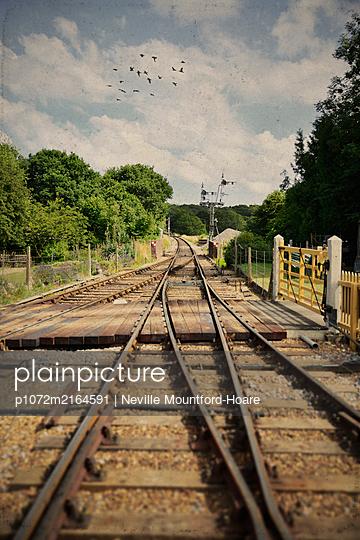 Vintage Railway Tracks - p1072m2164591 by Neville Mountford-Hoare