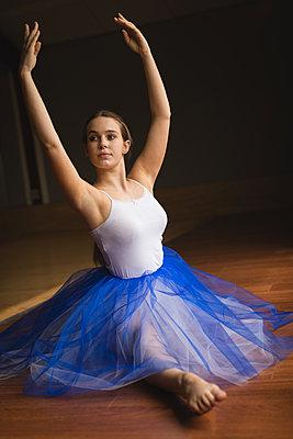Ballerina practicing ballet dance - p1315m2017838 by Wavebreak