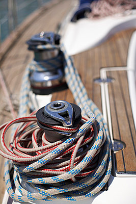 Winch on a Boat, close-up view - p4734522f by Stock4B