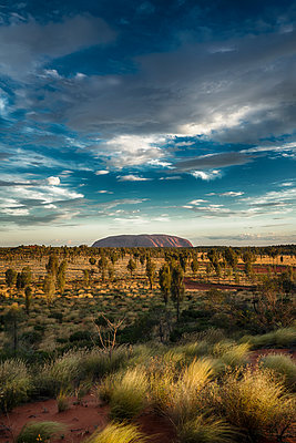 View of Ayers Rock - p1154m1462029 by Tom Hogan
