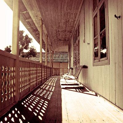 Wooden veranda - p5679596 by Claire Dorn