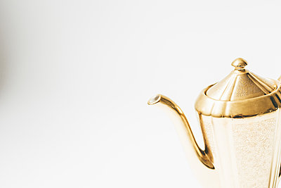 The Gold Teapot - p1086m1466464 by Carrie Marie Burr