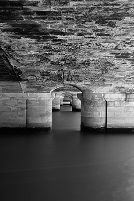 central vision under a parisian bridge - p1487m2081729 by Ludovic Mornand